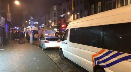 Manifestation Ibrahima Police Rue de Brabant- Photo 3 - Jean-Christophe Pesesse BX1