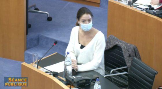 Sandra De Breucker Commission Corona Parlement bruxellois - Capture BX1