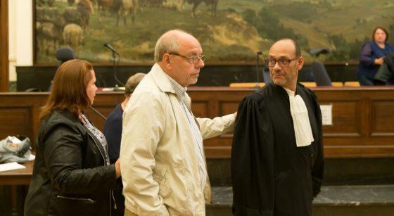 Sylvia B Christian Van Eyken et avocat Marc Uyttendaele - Belga James Arthur Gekiere
