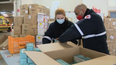 Croix-Rouge : distribution de matériel précieux pour nos soignants