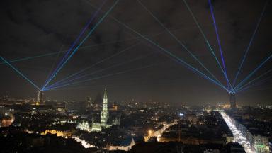 Bruxelles est passée en 2021 avec un spectacle au laser (photos)
