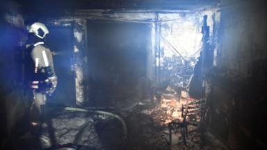 Porte de Hal : une maison de maître prend feu et provoque un important dégagement de fumée