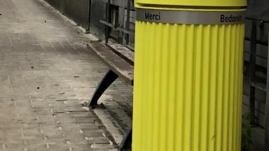 Etterbeek : de nouvelles poubelles jaunes avenue des Volontaires