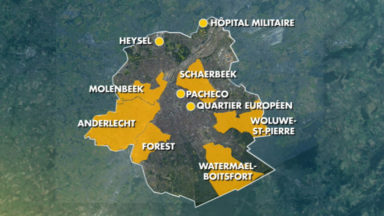 10 centres de vaccination prévus en Région bruxelloise