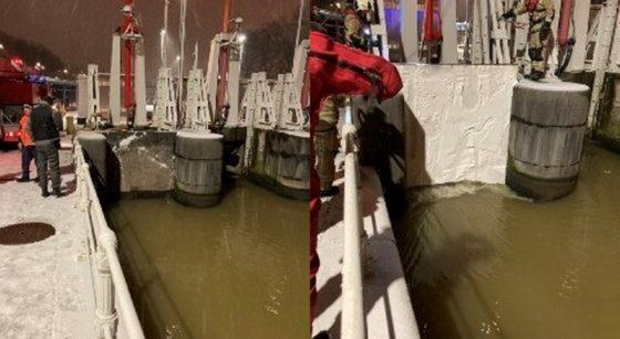 Écluse Molenbeek Bloquée Canal - Pompiers de Bruxelles