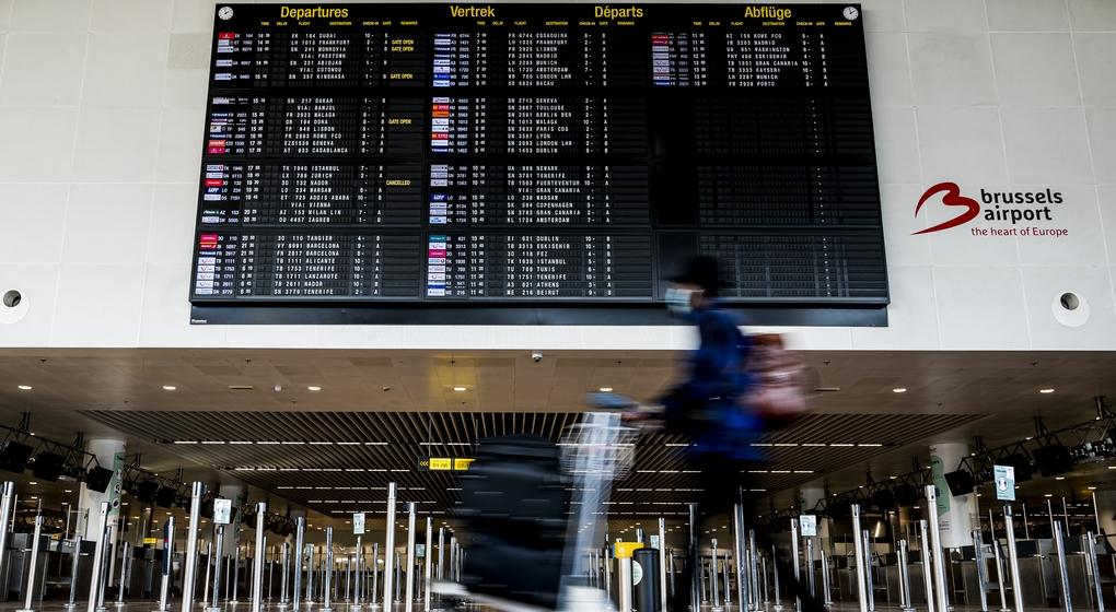 Brussels Airport Hall d'entrée Covid-19 Crise sanitaire - Belga Jasper Jacobs