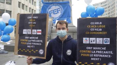 La FEF manifeste à Bruxelles pour un plan de déconfinement de l'enseignement supérieur