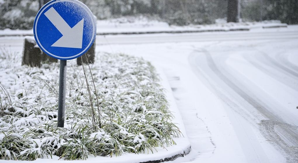 Chutes de neige Routes enneigées Janvier 2021 - Belga Yorick Jansens