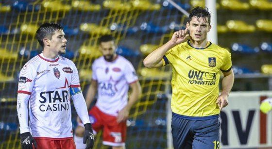 Dante Vanzeir But Union Saint-Gilloise Excel mouscron - Belga Laurie Dieffembacq