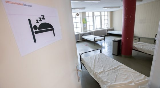 Hébergement sans-abri SDF Samusocial - Belga Benoit Doppagne
