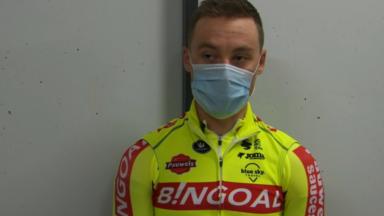 Le cycliste bruxellois Dimitri Peyskens, capitaine de l'équipe Bingoal-Wallonie Bruxelles