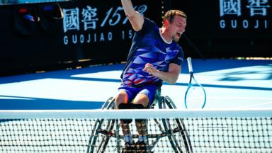 Joachim Gérard remporte l'Open d'Australie de tennis en fauteuil roulant
