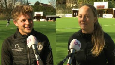 Victor et Jill, deux nouveaux commentateurs de hockey sur BX1