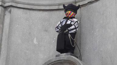 Le Manneken-Pis aux couleurs de la campagne #LGBTIQFreedomZone