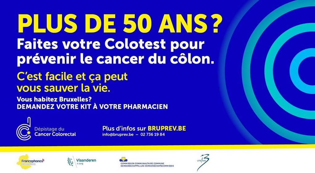 Cancer colorectal Affiche Cocof
