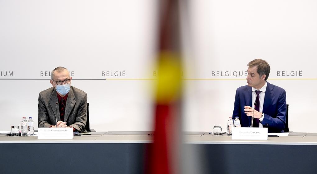 Comité de Concertation Frank Vandenbroucke Alexander De Croo - Belga Philip Reynaers