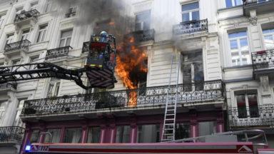 Ville de Bruxelles : un incendie fait huit blessés près du Cirque Royal