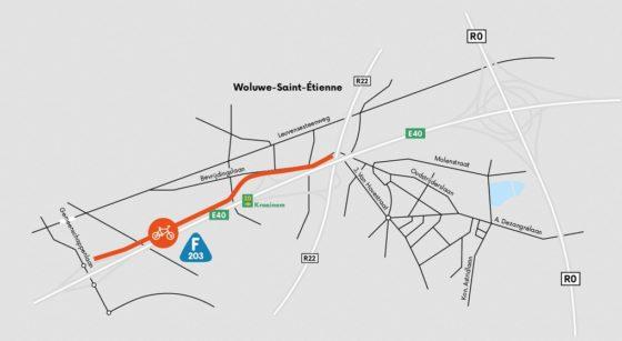 F203 Travaux Woluwe-Saint-Etienne Woluwe-Saint-Lambert - Werken Aan de Ring