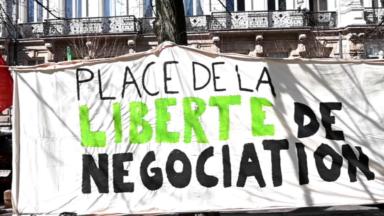"""La place de la Liberté devient la """"place de la liberté de négociation"""" ce lundi"""