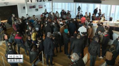 Mont des Arts : les artistes investissent le Théâtre National