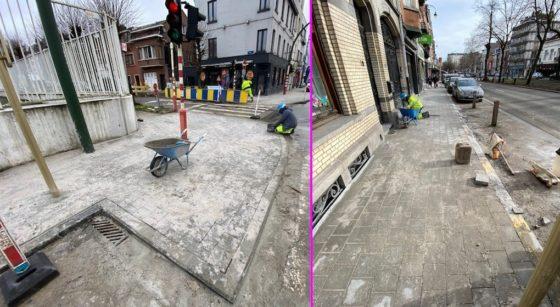 Trottoirs en travaux 2021 - Bruxelles Mobilité