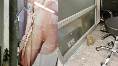 Haren : un salon de coiffure vandalisé, à cause d'un drapeau LGBTQI+ dans sa vitrine