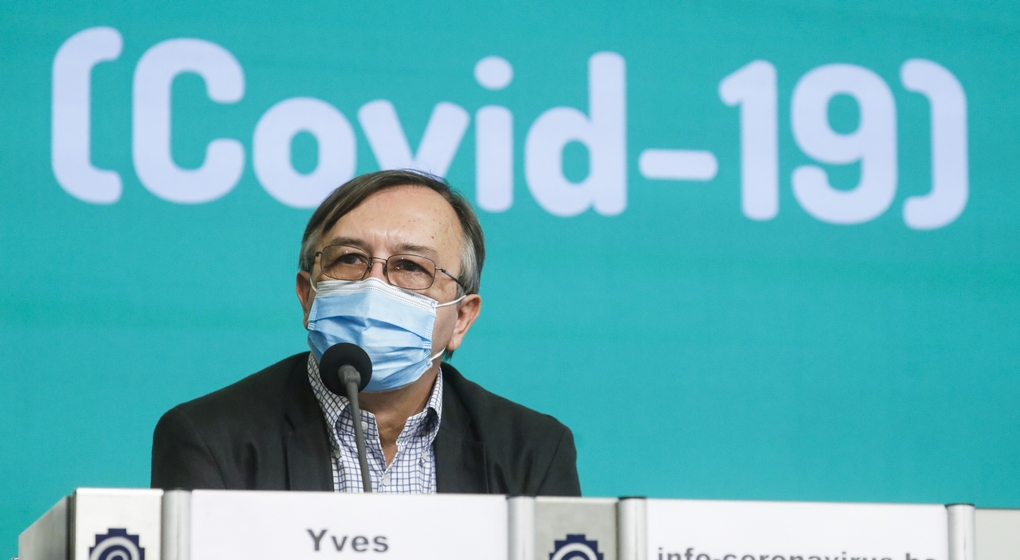 Conférence de presse Centre de Crise Covid-19 Yves Van Laethem - Belga Thierry Roge