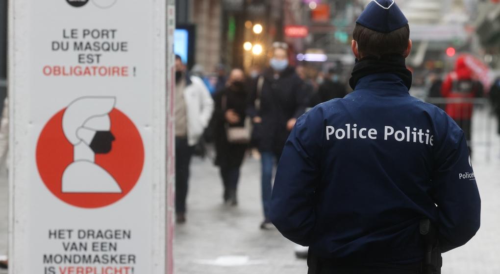 Police Mesures Masques Covid-19 Rue Neuve - Belga Virginie Lefour