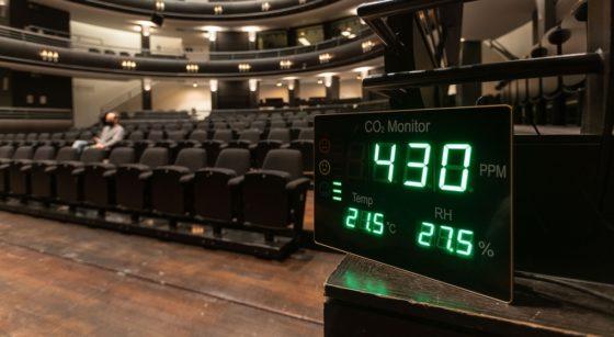 Théâtre KVS Salle de spectacle Compteur CO2 Covid-19 - Belga James Arthur Gekiere