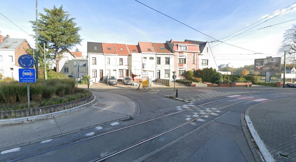 Tram Dansaertlaan Brusselsstraat Berchem Dilbeek - Capture Google Street View