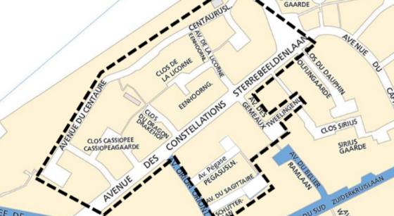 Zone bleue - Quartier des Constellations Woluwe-Saint-Lambert