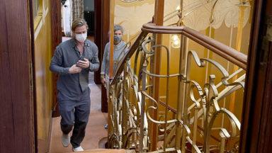 Après les Musées royaux des Beaux-Arts, Brad Pitt a aussi visité le Musée Horta