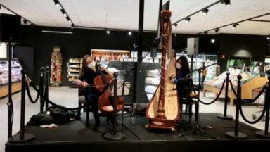 Moment de poésie dans un supermarché de Schaerbeek : deux virtuoses y donnent un concert classique