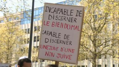 Un rassemblement à la mémoire de Sarah Halimi devant l'Ambassade de France