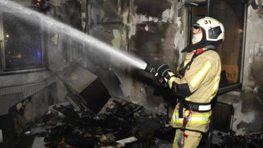 Neder-over-Heembeek : incendie dans un probable squat, 21 pompiers déployés