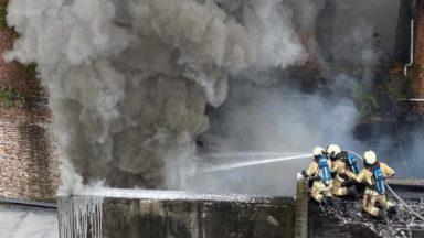 Anderlecht : l'incendie de la rue Heyvaert est sous contrôle