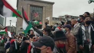 Des chants antisémites durant la manifestation de samedi au centre-ville