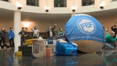 FEF : des étudiants ont dormi au siège de la Fédération Wallonie-Bruxelles