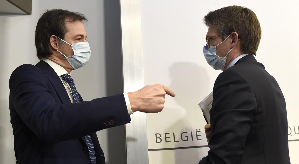Alexander De Croo Pierre-Yves Dermagne - Belga Pool Didier Lebrun