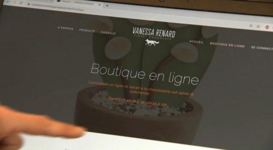 Boutique en ligne E-Commerce Chocolatière Vanessa Renard - Capture BX1