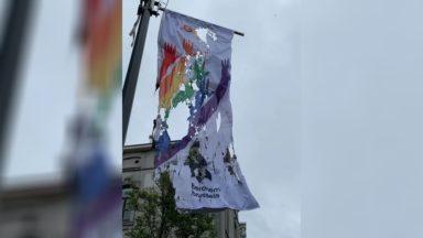 Berchem-Sainte-Agathe : un drapeau LGBT+ incendié ce week-end