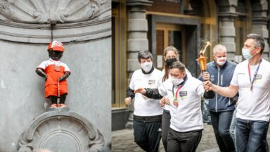 Manneken-Pis et la Flamme de l'Espoir pour lancer les Special Olympics Belgium à Bruxelles