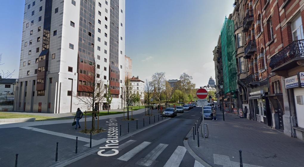 Square Jacques Franck Saint-Gilles - Capture Google Street View