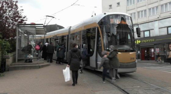 Tram 55 Stib Cage aux Ours Schaerbeek - Capture BX1