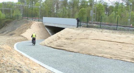 Tunnel Forêt de Soignes Watermael-Boitsfort Cyclistes Piétons - Capture BX1