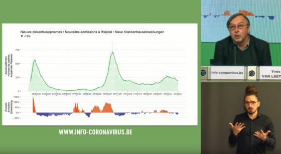 Yves Van Laethem Conférence de presse Centre de Crise 04052021