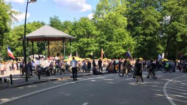 Bois de la Cambre : pas de heurts pour l'instant, la manifestation se déplace à Schuman