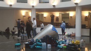 Le siège de la Fédération Wallonie-Bruxelles occupé par des étudiants