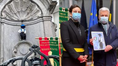 Un Manneken-Pis aux couleurs européennes pour la Journée de l'Europe