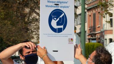 Le port du masque restera obligatoire dans certaines zones bruxelloises dès le 9 juin